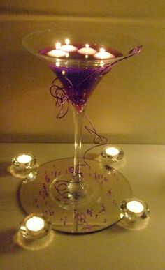 Martini Candle In The Wind, Water Beads, Quinceanera Ideas, Candle Centerpieces, Centre Pieces, Martini, Light Up, Holiday Ideas, Dream Wedding