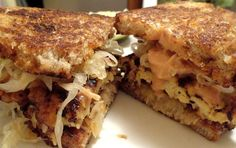 Here is an amazing vegan version of a Tempeh Reuben sandwich. And not a