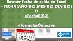 Extraer fechas de celdas en Excel que contienen fecha y hora + UDF @EXCE...