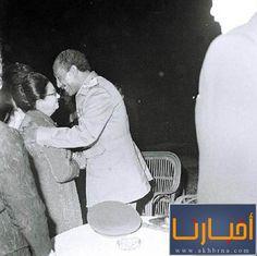 umm kulthumm and Anwar Elsadat the president of Egypt