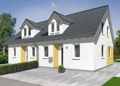 Doppelhaus Duett 115 - Trend.  Mehr Informationen zu den Massivhäusern von Town & Country Haus unter: http://www.hausausstellung.de/haus-bauen.html