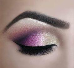 Magenta & Champagne Glitter Eyes