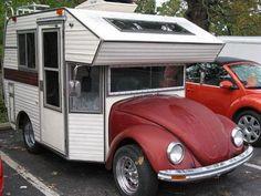 vw mini motorhome | Pequeno motor home montado sobre um VW fusca, cuja carroceria original ...