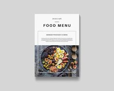 This is a print template & not include product mock-ups --- Food Menu Brochure Clean & modern multipurpose food menu / brochure / catalog / book / portfolio. This layout is suitable for any Brochure Food, Design Brochure, Brochure Template, Brochure Ideas, Creative Brochure, Brochure Layout, Web Design, Food Design, Cafe Design