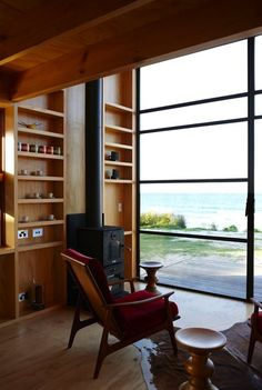 view from living room tiny beach home1   Small Beachfront Home: Modern & Functional