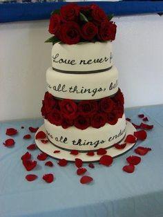 Bible verse wedding cake