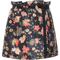 REDValentino Chelsea Flower Print Faille Skirt (3,120 GTQ) ❤ liked on Polyvore featuring skirts, mini skirts, bottoms, print skirt, mini skirt, patterned mini skirt, patterned skirts and red valentino skirt