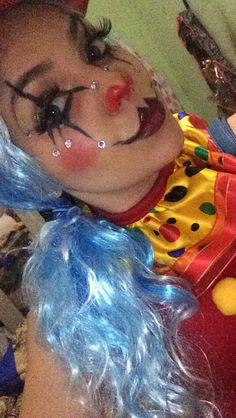 Sexy clown makeup