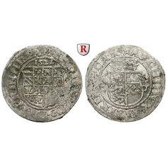 Römisch Deutsches Reich, Ferdinand I., 1/2 Batzen 1522, f.ss/ss: Ferdinand I. 1521-1564. 1/2 Batzen 1522 St.Veit. Achtfeldiges… #coins