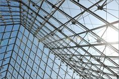Metal and glass roof structure