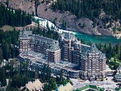 Banff Hotel von der Gondel aus gesehen