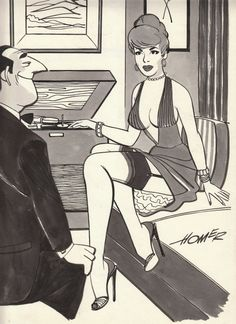 Record Love! artist: Homer Provence image found in Jim Lindermans Vintage Sleaze Collection HERE