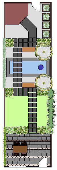lange smalle tuin: zorg voor tuinkamers die je gedeeltelijk kunt zien