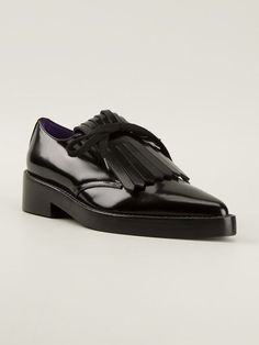 143c195303dd Marni Fringed Lace Up Shoe - Changing Room - Farfetch.com Changing Room