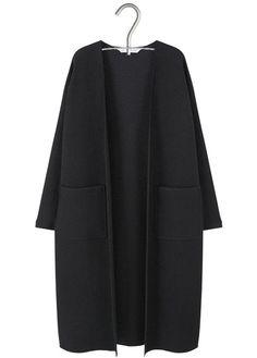 Gilet long en laine mélangée Noir by MANGO 89.99
