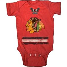 If I have kids, they are definitely rocking this Old Time Hockey Chicago Blackhawks Beeler Infant Creeper T-Shirt