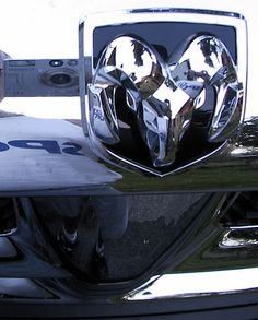 Dodge Ram Truck Logo on black hood
