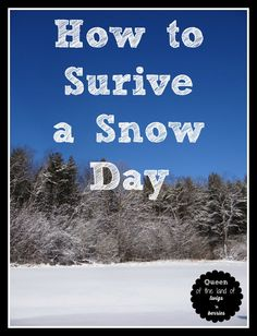 How to Survive a Snow Day - www.queenofthelandoftwigsnberries.com