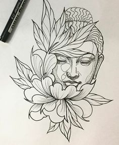 "Ergebnis für Praying Buddha Tattoo Bild Ergebnis für Praying Buddha Tattoo ""Convoque seu Buda o clima ta tenso""✍🍂 Tattoo Sketches, Tattoo Drawings, Drawing Sketches, Art Drawings, Pencil Drawings, Kunst Tattoos, Body Art Tattoos, Cool Tattoos, Hand Tattoos"
