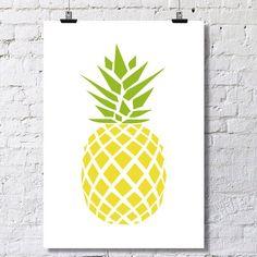 Geometric Pineapple Poster by LuhDesign on Etsy Pineapple Tattoo, Pineapple Art, Atelier D Art, Live Wallpaper Iphone, Tropical Art, Stencil Art, Etsy Uk, Geometric Art, Cute Art