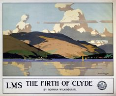 The Firth of Clyde by LMS by Norman Wilkinson.