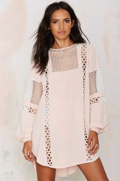 Francois Crochet Shift Dress - Back In Stock | Day | Dresses
