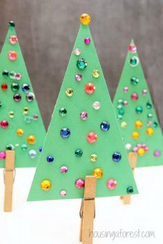 Jeweled Christmas Tree Craft #christmastree #christmascrafts
