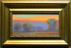 Study for  Early morning light.  original oil painting By listed artist James Osorio. California Plein Air