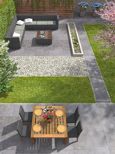 Ceramic outdoor tiles GeoCeramica · Can be processed on sand - tiles . - Ceramic outdoor tiles GeoCeramica · Can be used on sand – tiles # C - Backyard Patio Designs, Small Backyard Landscaping, Modern Landscaping, Back Garden Design, Modern Garden Design, Back Gardens, Outdoor Gardens, Exterior Tiles, Outdoor Tiles