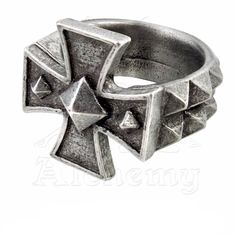 """Bague Alchemy Gothic """"Cross of Iron"""""""