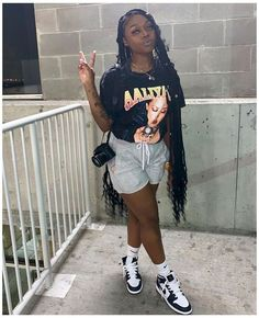Chill Outfits, Cute Swag Outfits, Tomboy Outfits, Dope Outfits, Trendy Outfits, Black Summer Outfits, Summer Outfits Women Over 40, Outfit Summer, Casual Summer