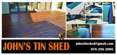 Deck maintenance .... repair, sanding & resealing Deck Maintenance, Tin Shed, Custom Woodworking