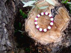 Gemstones bracelet/ Foam coral and agate bracelet by RetroBicycle, €12.00