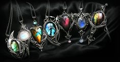 Lunarieen | Fantasy Handmade Jewellery | Silver and Gemstone Jewellery Fantasy Jewelry, Gothic Jewelry, Silver Jewelry, Fantasy Art, Cute Jewelry, Jewelry Accessories, Jewelry Design, Pendant Jewelry, Gemstone Jewelry