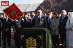 King Mohammed VI on Thursday inaugurated Morocco's first solar power plant, a massive project that the country sees as part of its goal of boosting its clean energy output. Solar Energy, Solar Power, Roi Mohamed 6, Hassan 2, Eco City, Sustainable City, Water Pollution, Lisa S, Images