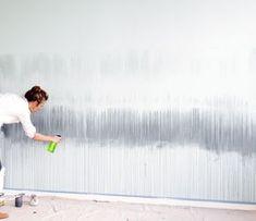 Simple DIY paint technique in a blue bedroom.