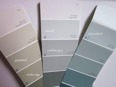 sherwin williams rainwashed and sea salt May be contenders is Palladian Blue is too baby bluish, these are more greenish. This persons blog shows pics of three colors I like