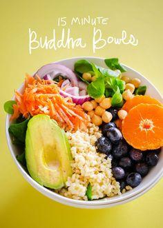 15 Minute Buddha Bowls | Live Eat Learn