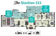 Top designer house plans for wide blocksHomes Home Designs On Pinterest New Home Designs Floor Plans