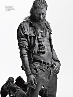 Andrea Marcaccini Goes Tribal for Elle Man Mexico image elle man009
