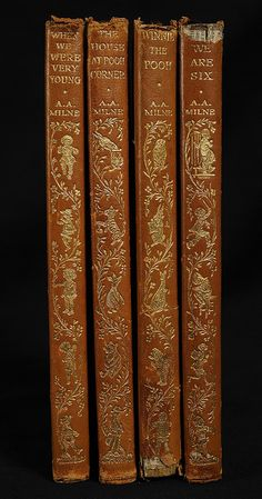 Winnie the Pooh Spine Details by Hopkins Rare Books, Manuscripts, & Archives #Books #Classics #Vintage