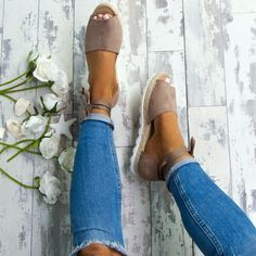 London's Calling Lace Up Espadrilles in Mocha Cute Shoes, Me Too Shoes, Heeled Espadrilles, Shoe Boots, Shoes Heels, Flat Shoes, Looks Style, Crazy Shoes, Summer Shoes