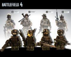 "LEGO ""Battlefield 4"" Flat Black Camo"