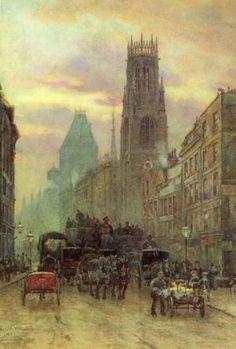 Fleet Street by Herbert Marshall. 1883