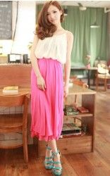 Gorgeous 2-toned dress, at only usd $22! Buy it now at http://www.liveitgorgeous.com/fashion/helen-stylus-2-toned-dress-rose.html