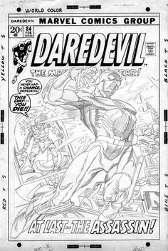 Comic Art For Sale from Coollines Artwork, KANE, GIL - Daredevil #84 cover finished pencil art - includes free bonus ink cover by Comic Artist(s) Gil Kane