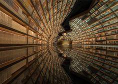 Cette incroyable bibliothèque au cadre digne d'un film de science-fiction va faire rêver tous les bibliophiles !