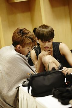 Sehun and Kai - EXO---- I am like freaking out because of Kai's leg. Idk why, but I am. Is that good or bad?