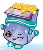 Breaky Crunch (Shopkins 1-020, 1-029) Breaky Crunch is a pink, opened box of yellow Cheerios (depicted as corn flakes in artwork). He is wearing a teal sweatband and has navy blue shoes. His variant is a yellow, opened box of chocolate Cheerios. He wears a lavender sweatband and has dark pink shoes. Breaky Crunch is an ultra rare Pantry Shopkin from Season One.