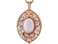 Timna Jewelry Collection(Tm) Oval Cabochon Pink Mother Of Pearl Copper
